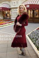 Меховой палантин из песца купить в интернет-магазине в Москве фото