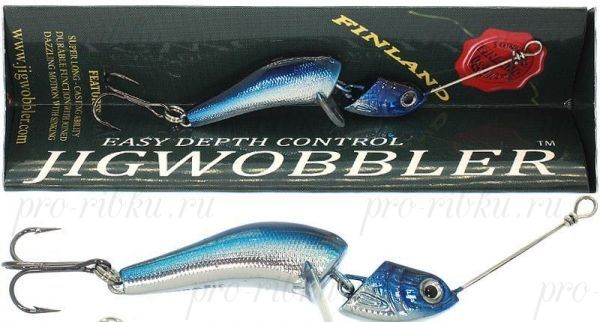 Джигвоблер Wake Jigwobbler 50, 5 см, 8 гр, #Blue Silver