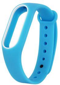Ремешок для браслета Xiaomi Mi Band 2 синий с белым