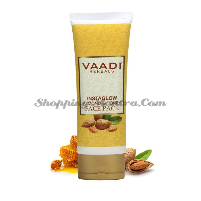 Освежающая маска для лица Мед и Миндаль Ваади | Vaadi Instaglow Almond & Honey Face Pack
