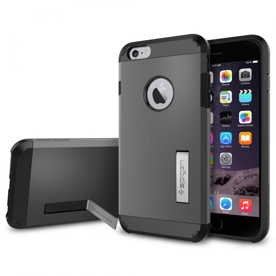 Чехол Spigen Tough Armor для iPhone 6S Plus стальной