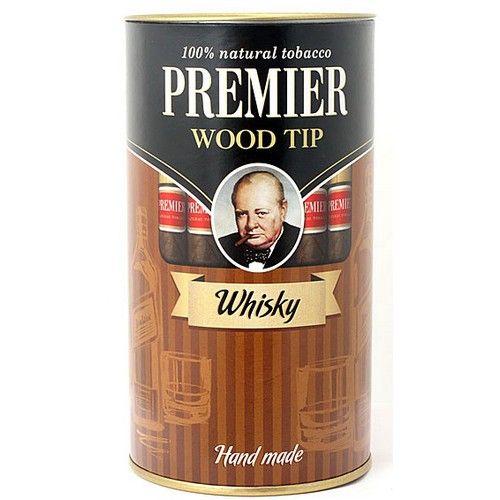 Сигариллы Premier Whisky с мундштуком туба 25 шт