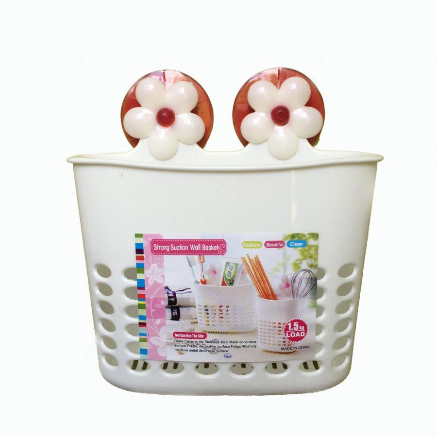 Органайзер для ванных принадлежностей на присосках Strong Suction Wall Basket