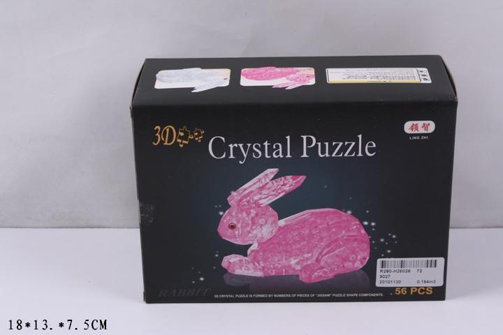 9027 Пазл розовый кролик