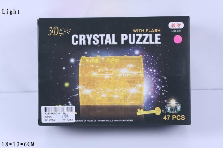 3D-пазл Магический Кристалл Сундучок со светом (9006А) 2 цвета, 47 дет.