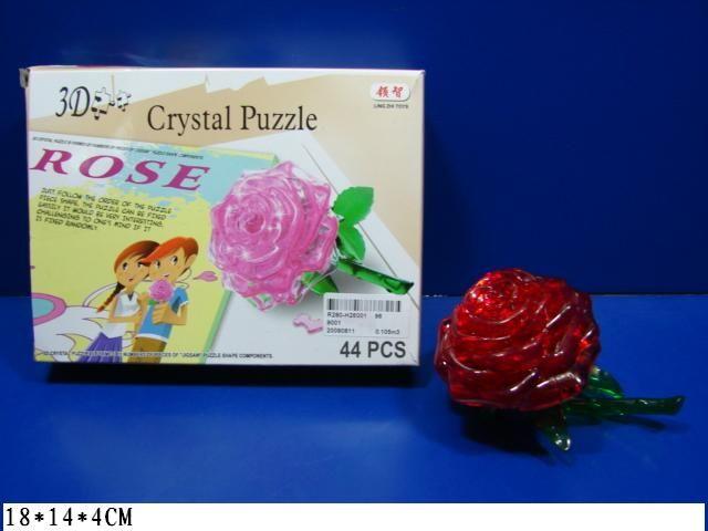 9001 пазл 3D роза 44 дет Аленький цветочек