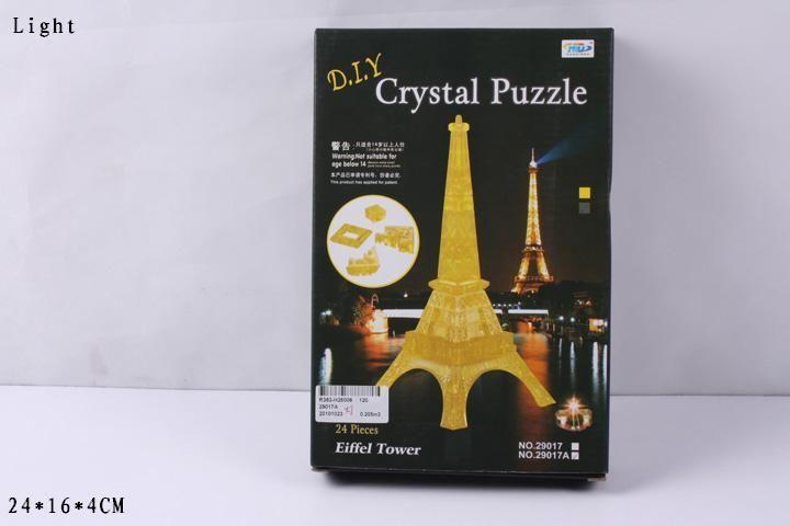 3D-пазл Магический Кристалл Эйфелева башня с подсветкой (29017A) 2 цвета, 24 дет.