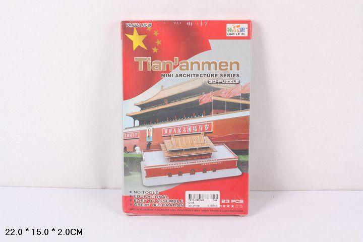 D105 Площадь Тяньаньмэнь в Пекине 23 детали 3D Puzzle Конструктор