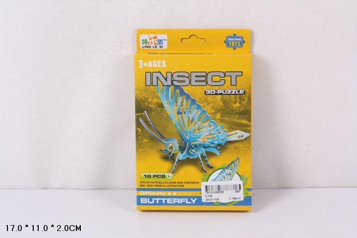 C102 Бабочка конструктор 16 деталей