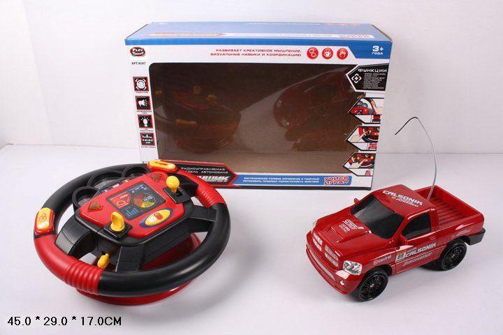 9547B Грузовик на радиоуправлении, пульт-руль интерактивный Автогонщик