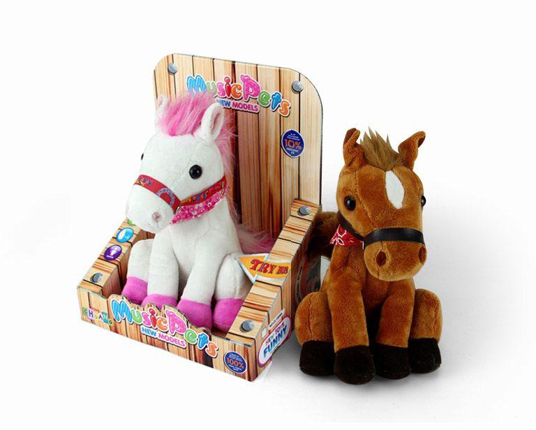 Детская игрушечная лошадка 16 см, танцующая