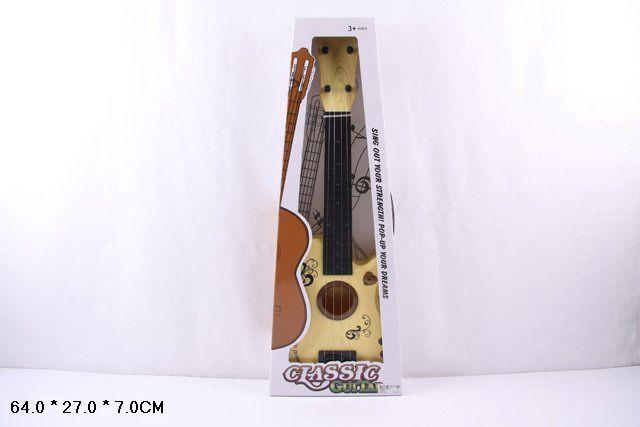 3138A Детская гитара игрушечная с 4-мя струнами 64 см. Укулеле