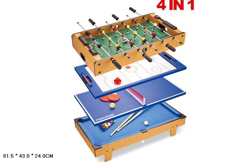 HG207-4 Игра 4в1 Теннис Футбол Хоккей Бильярд Partida Игровой стол 4 в 1 82