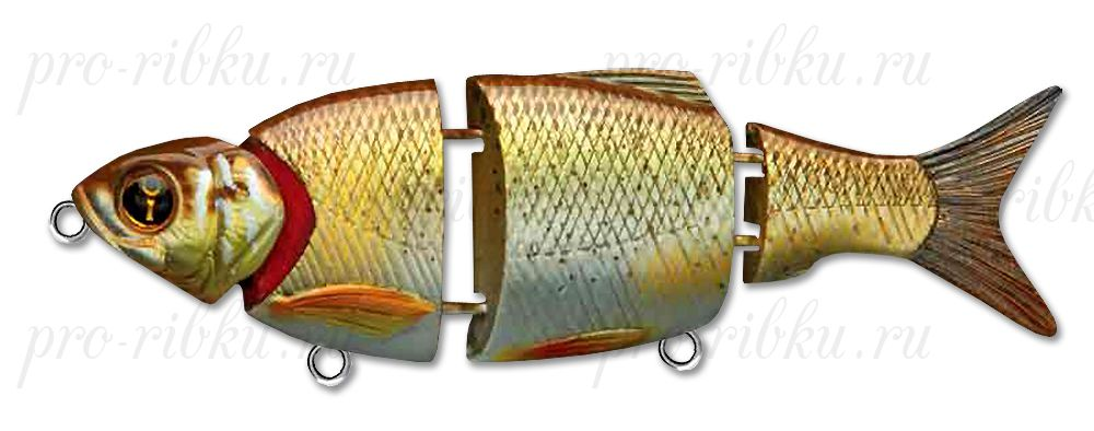 Свимбейт Izumi Shad Alive 145 мм, быстротонущий, #3 Brown Gold Shinner