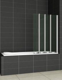 Шторка на ванну Cezares PRATICO-V-4-100/140-C-Cr