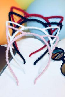 Цветные ободки с ушками