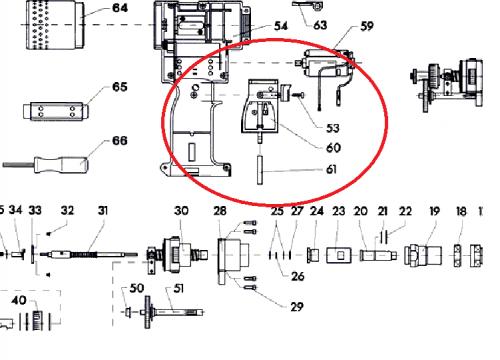 Пусковой механизм для заклёпочника FireBird (7262523)