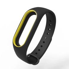 Ремешок для браслета Xiaomi Mi Band 2 черный с желтым