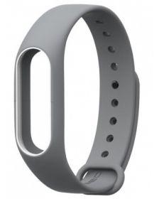 Ремешок для браслета Xiaomi Mi Band 2 серый с белым