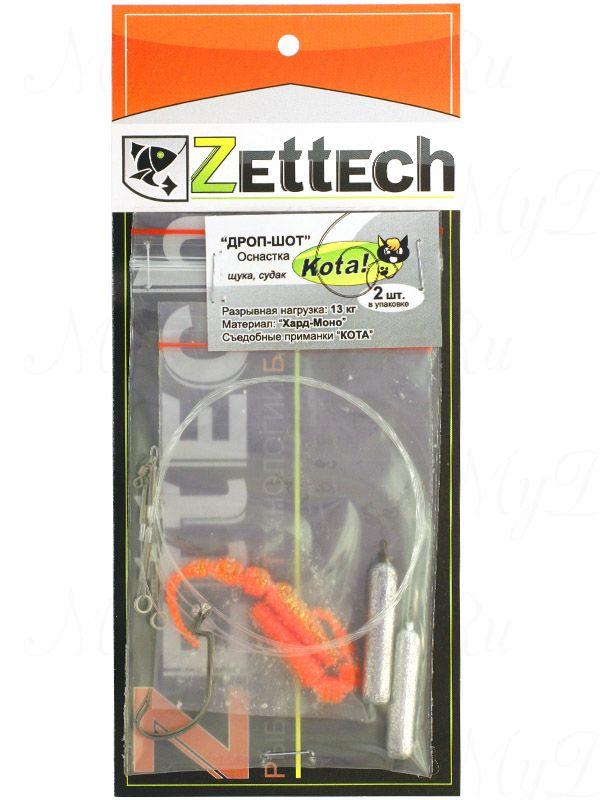 ZETTECH Drop-Shot Pike/Zander 14/18 г, 7 см, 13 кг, в упак. 2 шт., цвет #10