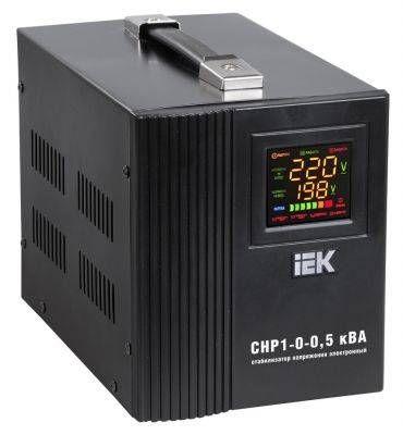 IEK Стабилизатор напр. релейный тип, серии HOME 0,5 кВА предохр. In 6А КПД 95%  IVS20-1-00500