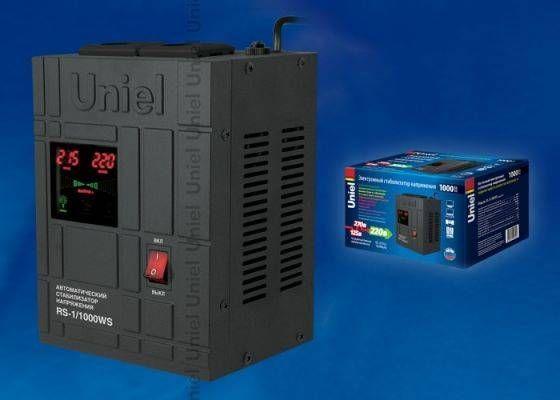 Uniel стабил-р напряж релейн  1ф 1000ВА 70-275V напольн. RS-1/1000LS, 1000VA