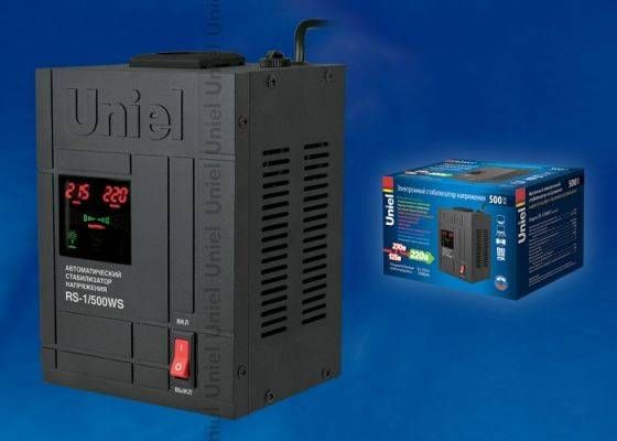 Uniel стабил-р напряж релейн 1ф 500ВА 70-275V напольный RS-1/500LS
