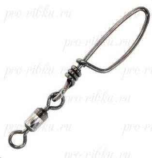 Вертлюг c застежкой Centro Stainless Steel Rolling Swivel + Tournament Snap #5, 55 кг (120lb), black nickel, 10 шт. в уп.