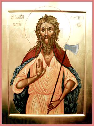 Лаврентий Калужский (рукописная икона)