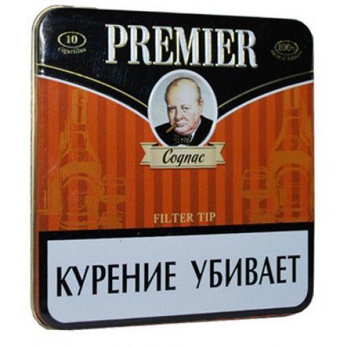 Сигариллы Premier Cognac портсигар 10 шт.