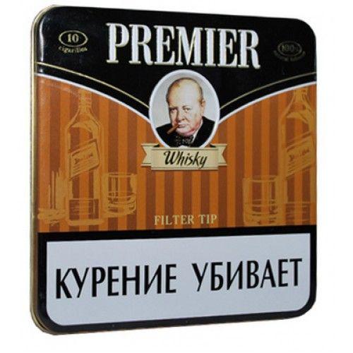 Сигариллы Premier Whisky портсигар 10 шт