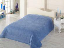 """Простыня махровая  велюр """"PUPILLA"""" SAFARI 200x220 см (голубая)  Арт.2436-2"""