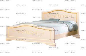 Кровать Сатори с золотой патиной