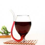 Бокал для вина с трубочкой