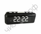 Часы  эл. сетев. VST738-6 бел.цифры