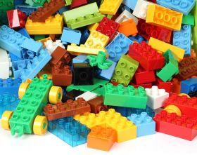 Конструктор Lego Duplo совместимый 100 шт в контейнере