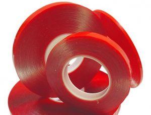Скотч двухсторонний (4 мм x 25 м) 0,05 мм (red)