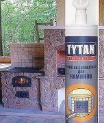 герметик силикатный для каминов  печей tytan