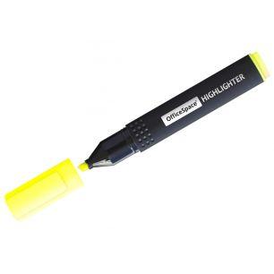 Текстовыделитель OfficeSpace желтый, 1-4мм