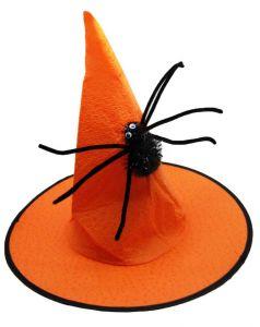 Колпак Ведьмы с пауком (оранжевый)
