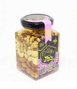 Мёд акациевый ассорти орехов, 320 гр