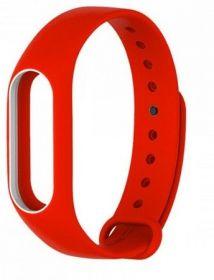 Ремешок для браслета Xiaomi Mi Band 2 красный с белым