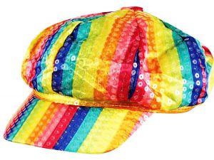 Шляпа Радужная блестящая