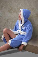 """Халат махровый детский с капюшоном """"KARNA""""  SILVER  Арт.913/1-2"""