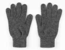 кашемировые перчатки мужские (100% драгоценный кашемир) , цвет Серый Mid Grey