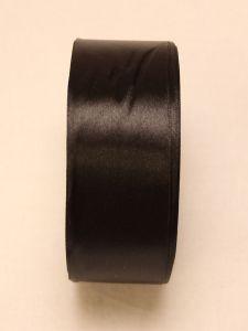 Атласная лента, ширина 40 мм, 25 ярдов, цвет: черный