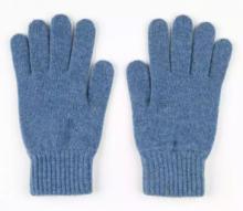 кашемировые перчатки мужские (100% драгоценный кашемир) , цвет Голубой джинсовый  Jean
