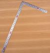 Угольник столярный плоский Shinwa фигурный профиль 300х150мм отсчёт нижней шкалы - от наружнего угла М00013221