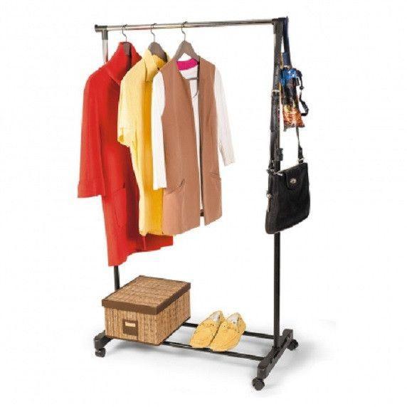 Напольная передвижная стойка для одежды Single-Pole Telescopic Clothes Rack