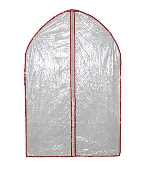 Полиэтиленовый чехол для одежды на молнии